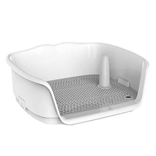YIZHEN Portátil De Plástico De WC para Perrito De Perro De Interior con WC Cercado para Perros Pequeños, Inodoro para Mascotas Cercado, Aseo para Perros