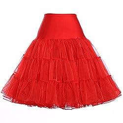 Yafex Women's 50's Petticoat Underskirt Retro Vintage Swing 1950's Rockabilly Size Xl Yf8922-3