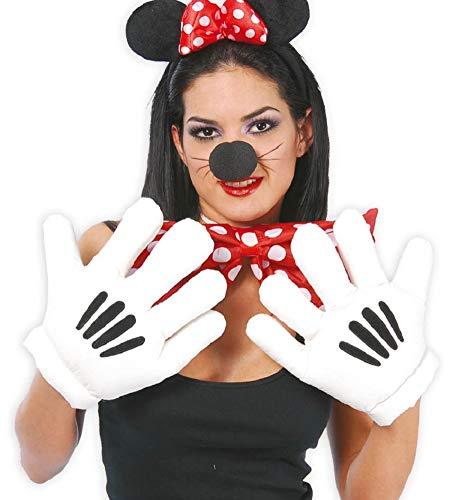 Kostüm Cartoon Hände - Fancy Me Herren Damen Große weiße übergroße Cartoon-Maus Hände TV-Buch Film Kostüm Outfit Zubehör Handschuhe