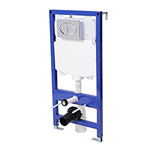 toilet clearance from wall homcom clearance wall hung concealed cistern toilet frame 6275