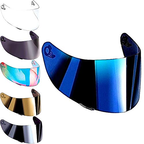 Helmvisier Agv K5 K1 K3 sv K5s S4-sv Horizon Skyline Stealth-sv Visier Klar Blau Smoke Iridium Gold Spiegel Ersatzvisier Gt-2 Nicht Original Aftermarket (Iridium Blau)