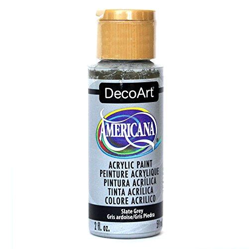 DecoArt Americana 2 oz Mehrzweck-Acrylfarbe, 59 ml, Slate Grau Americana-rock
