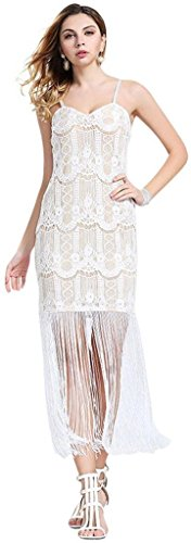 Jeansian Femmes Fashion Robe Sexy Gilet Slim Fit Womens Casual Dress Party Dresses WHS094 white