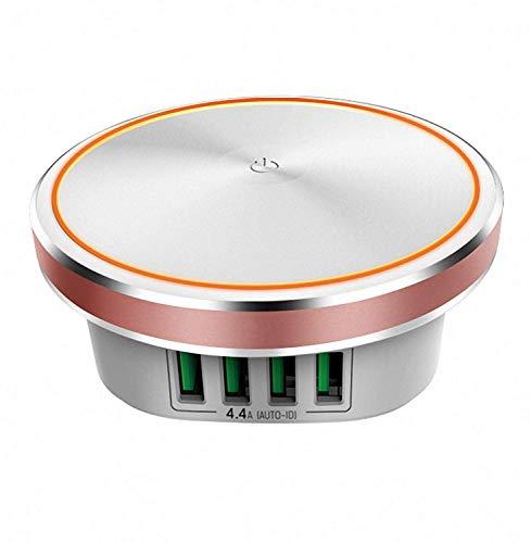 Preisvergleich Produktbild YLJYJ Smart LED Nachttischlampe Ladegerät Nachttischlampe / Nachttischlampe Mit 2-stufiger Helligkeitspressensteuerung Eingebauter 4-USB-Smart-Ladeanschluss