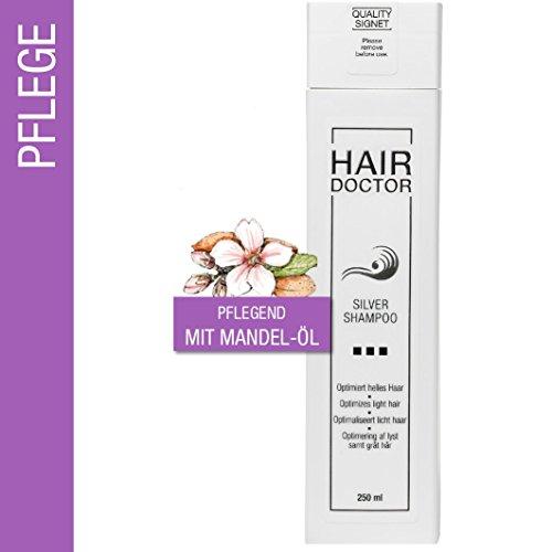 Hair Doctor Silber Shampoo gegen den Gelbstich in blondem, weißen oder grauem Haar 250 ml + Gratisprobe Color Mask Intense 30ml