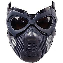 ValuePack Bucky Masque Cosplay Soldat Casque Intégral Cosplay Costume Adulte Hommes Halloween Fantaisie Robe Marchandise Prop