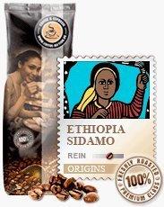 Coffee-Nation Ethiopia Sidamo 1000g Bohnen | Spitzenqualität | Kaffeeliebhaber