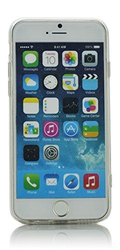 """iProtect Schutzhülle Herbstwald in Schwarzrot Ölgemälde für Apple iPhone 6 Plus (5,5"""") Soft case Impressionismus Classical Art Design Abendspaziergang"""