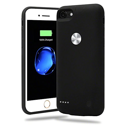 Cover-Per-iPhone-7-Con-Batteria-Integrata-Wesoo-Cover-Con-Batteria-Ricaricabile-da-2800mAh-Ultra-Sottile-per-iPhone-7-da-47-Pollici-Nero