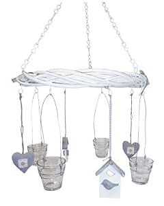 windlicht kranz vogelhaus weidenkranz dreigliedrige metallkette zum aufh ngen. Black Bedroom Furniture Sets. Home Design Ideas