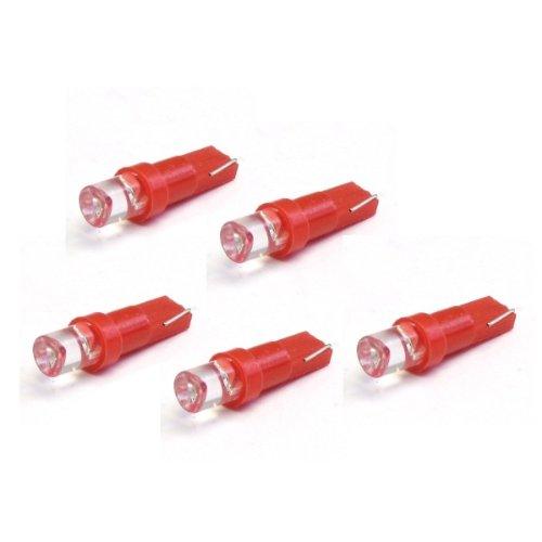 58482-5x LED Ampoule Lampe voiture auto Rouge T5 B8.5D BAX10D 12V tachymètre instrument d'éclairage
