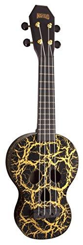 Mahalo ukulele Mahalo creative Series ukulele, (MC1SK wt) Ukulele soprano Black/Gold