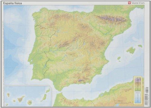 Mapa España Física, 50 unidades por Vv.Aa.