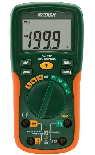 Extech Multimeter (Extech TRMS-Multimeter mit automatischer Messbereichswahl, 1 Stück, EX205T)