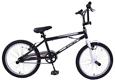 "Ammaco Freestyler Cheapest Kids Girls Boys Bmx Bike With Stunt Pegs & Gyro 20"" Wheel Black"