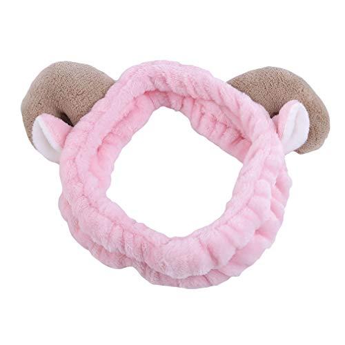 Yinew Head Wrap Niedlichen Tier Ohr Weiche Elastische Haarband Cartoon Dusche Waschen Make-Up Stirnbänder Für Frauen Und Mädchen, ()