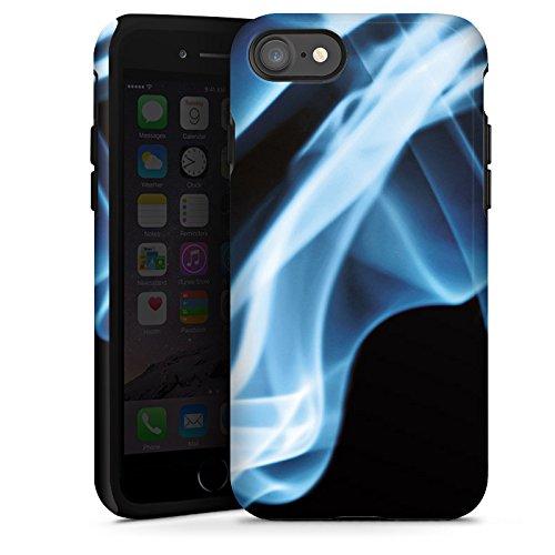 Apple iPhone X Silikon Hülle Case Schutzhülle Rauch Dunst Dunkel Tough Case glänzend
