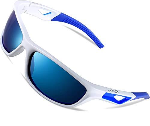 ATTCL Herren Sonnenbrille Polarisierter Sports Fahren Golf Laufen Superleichtes Rahmen 306 Blue