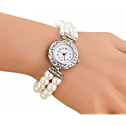 Women Watch,Rawdah Students Beautiful Pearl Quartz Bracelet
