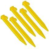 Spachy 5 picchetti in plastica per Tenda da Giardino e Paesaggio, per Tenere Giù la Rete da Giardino, Tenere premuto Le Tende, teloni Antipioggia e Bordo del Prato