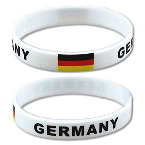 EROSPA Fan-Armband Fußball Deutschland (Germany) - WM 2018 Russland (Russia) - Damen Herren Unisex...
