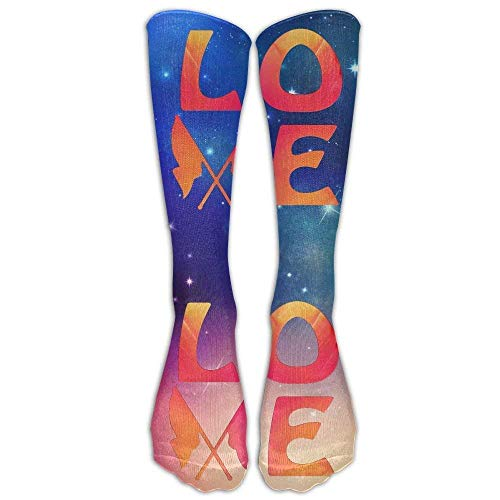 Color Guard Love Casual Unisex Sock Knee Long High Socks Sport Athletic Crew Socks One Size -