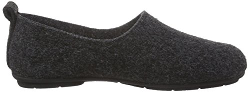 Hans Herrmann Collection hhc, Pantofole non imbottite donna Nero (Schwarz (antracite -10))