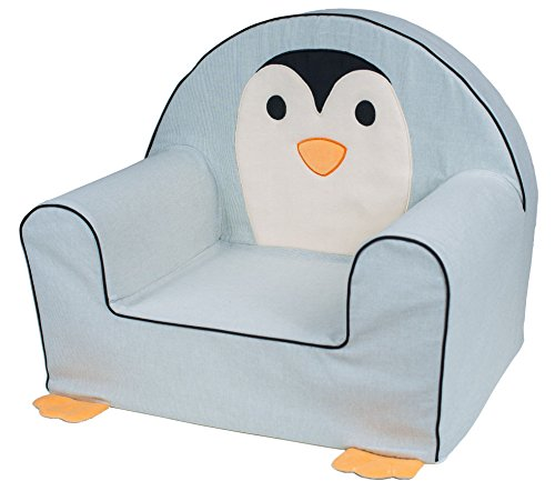 Bubaba - Kindersessel in 12 Motiven, EU Produkt, formstabiler Schaumsoff - extra leicht nur 1kg, Model:Penguin