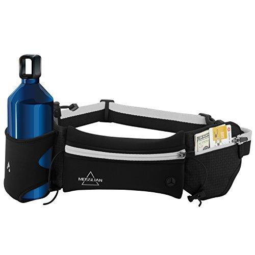 Sport-Bauchtasche-MOSSLIAN-Stilvolle-Super-Leichte-Reise-Elastische-Hfttasche-Grteltasche-Laufgrtel-Reflektorstreifen-und-mit-Kopfhrerffnung-geeignet-fr-Handy-iPhone-7-6-Samsung-Galaxy-S6-Huawei-P9-Ma