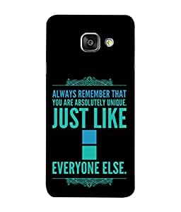 PrintVisa Designer Back Case Cover for Samsung Galaxy A9 Pro (Inspirational Wordings Sayings Words )