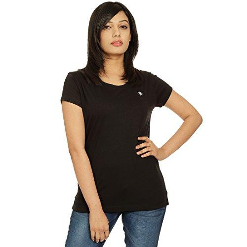 Zeven Essentials Women Round neck T-Shirt, Black