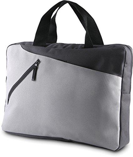 Kimood Unisex Moderne Aktentasche in Kontrastfarben KI0402 Dark Grey/Light Grey 39 x 28 x 7 cm (Aktentasche Light)