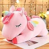 DWSM Gigante Unicorn Peluche Giocattolo Morbido Ripieno Bambole Animale Cavallo Giocattoli Bambini Ragazza Regali di Compleanno 80Cm Rosa