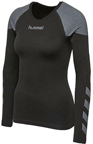 hummel Damen First Comfort WO LS Jer T-Shirt, Black, XS/S