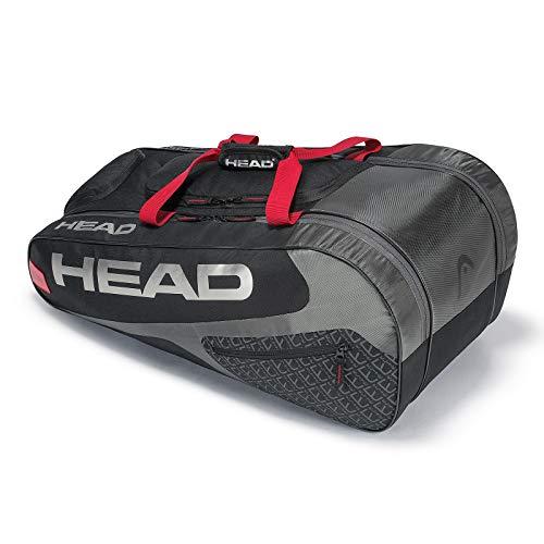 HEAD Elite Allcourt-Schlägertasche, Unisex, 283709BKRD, schwarz/rot, Einheitsgröße -