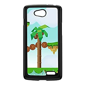 Retro Platform Game Black Hard Plastic Case for LG L70 by Nick Greenaway + FREE Crystal Clear Screen Protector