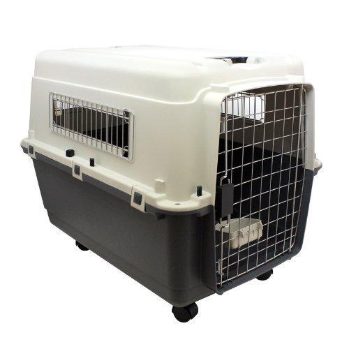 Hund und Katzen Transportbox Tiertransporter Hundebox LTB90 Beige/Grau