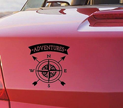 tjapalo® S-pka2 Autoaufkleber Kompass Aufkleber Auto Aufkleber Kompass heckscheibenaufkleber Abenteuer Adventures (B20 x H20 cm (TOP)) -