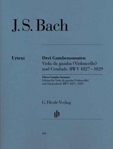 Preisvergleich Produktbild 3 Sonaten für Gambe und Cembalo BWV 1027-1029; Fassung für Gambe oder Violoncello und Cembalo