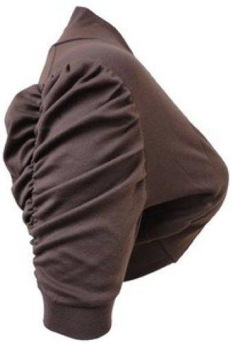 Femmes Grande Taille ruché manches 3/4 cultures cardigan boléro dessus de hausser brown