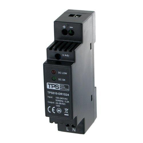 Preisvergleich Produktbild 10W / 24V-28V Hutschienen-Netzteil, stabilisiert, TDR10-24VK, 420mA - TPS Elektronik