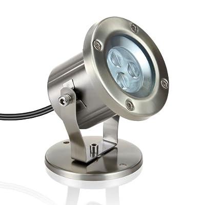 parlat LED Strahler für außen, warm-weißen, IP55, dreh- und schwenkbar, 230V von LEDs Com GmbH - Lampenhans.de
