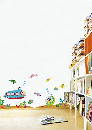 Ambiance-Live Sticker Mural Animaux sous-Marin pour la Chambre des Enfants