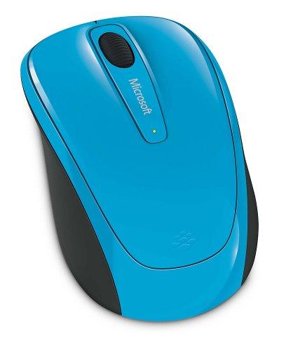 Microsoft WMM 3500RF Kabellos BlueTrack beidhändig Cyan-Maus (RF Kabellos, Büro, Laufrad, BlueTrack, Laptop, beidhändig) -