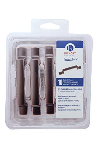 Hickory Hardware vp3113-obh Projekt Pack 3Zoll Rotterdam Schrank Pull, 3Zoll, oil-rubbed ER Bronze gesträhnt, 10 Hickory Bogen