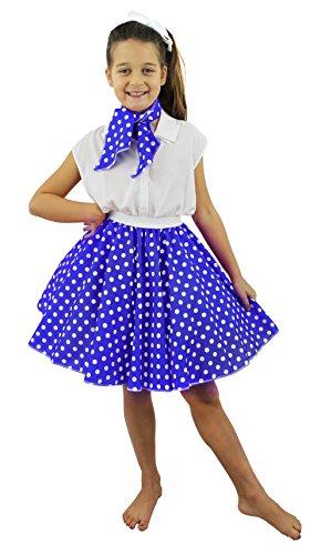 I Love Fancy Dress. ilfd7092Childs corto diseño de lunares falda (Talla única)