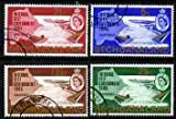 Bechuanaland 1965 New Constitution set of 4 the 2.5c with inverted watermark all fine cds used, SG 186-89 MAPS DAMS CIVIL ENGINEERING JandRStamps