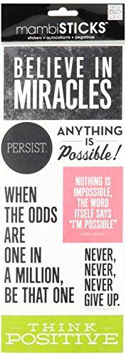 Unbekannt Me & My Big Ideas mambisticks, Aufkleber, Believe in Miracles -