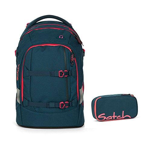 Satch Pack - 2tlg. Set Schulrucksack - Motive - Schulrucksack Schlamperbox (Pink Phantom)