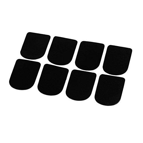 Querfloete Mundstueck Pads - TOOGOO(R) Querfloete/Klarinette/Saxophon-Mundstueck Patches Pads Kissen, mit Glaseinsatz, 8 Stueck, Schwarz